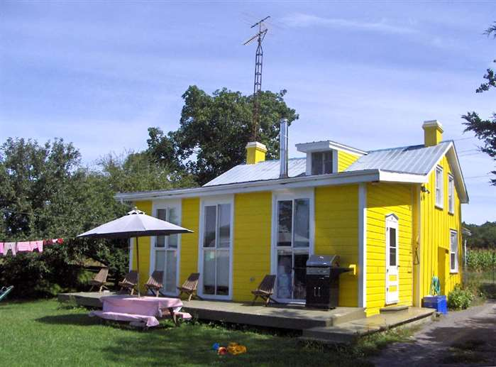 Prince Edward County Sandbanks Little Yellow House On