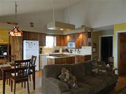 open concept living-dining-kitchen